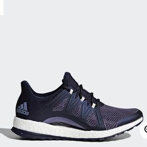Adidas xpose pureboost running shoes blue size 8